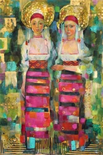 Картины, озаренные светом Болгарии, рисует художница Петя Петрова в немецком городе Ахен