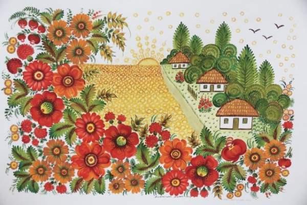 Петриковская роспись – украинское культурное наследие в галерее «Миссия» при МИД